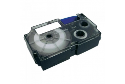 Casio XR-9SR1, 9mm x 8m, fekete nyomtatás / ezüst alapon, eredeti szalag