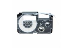 Utángyártott szalag Casio R7YW 12mm x 2,5m zsugorcső, fekete nyomtatás / sárga alapon