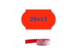 Cenové címkék do kleští, 26mm x 12mm, 900 db, signální piros