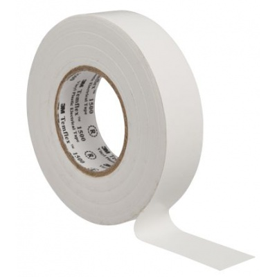 3M Temflex 1500 Elektromos szigetelőszalag, 15 mm x 10 m, fehér