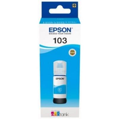 Epson eredeti tintapatron C13T00S24A, 103, cyan, 65ml, Epson EcoTank L3151, L3150, L3111, L3110