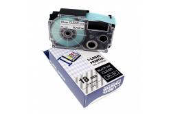 Casio XR-18X1, 18mm x 8m fekete nyomtatás / átlátszó alapon, kompatibilis szalag