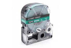 Epson LC-SD9GW, 9mm x 8m, fehér nyomtatás / zöld alapon, utángyártott szalag