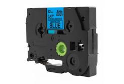 Brother TZ-S531 / TZe-S531, 12mm x 8m, extr.adh. fekete nyomtatás / kék alapon, kompatibilis szalag