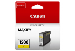 Canon eredeti tintapatron PGI-1500 Y, yellow, 300 oldal, 4.5ml, 9231B001, Canon MAXIFY MB2050,MB2150,MB2155,MB2350,MB2750,MB2755