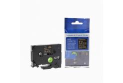 Brother TZ-334 / TZe-334, 12mm x 8m, arany nyomtatás / fekete alapon, kompatibilis szalag