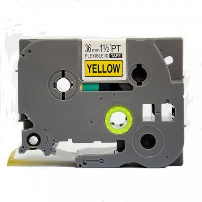 Brother TZ-FX661/TZe-FX661 36mm x 8m, flexi, fekete nyomtatás / sárga alapon, kompatibilis szalag
