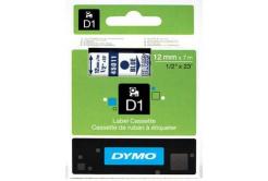 Dymo D1 45011, S0720510, 12mm x 7m kék nyomtatás / átlátszó alapon, eredeti szalag
