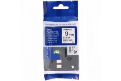 Brother TZ-FX223 / TZe-FX223, 9mm x 8m, flexi, kék nyomtatás / fehér alapon, kompatibilis szalag