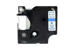 Dymo 45801, 19mm x 7m kék nyomtatás / átlátszó alapon, kompatibilis szalag