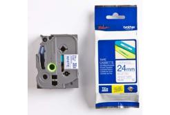 Brother TZ-253 / TZe -253, 24mm x 8m, kék nyomtatás / fehér alapon, eredeti szalag