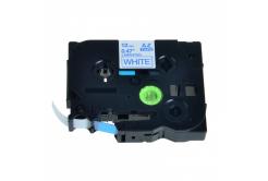 Brother TZ-233 / TZe-233, 12mm x 8m, kék nyomtatás / fehér alapon, kompatibilis szalag