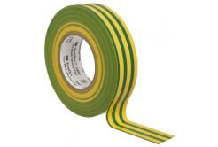 3M Temflex 1500 Elektromos szigetelőszalag, 15 mm x 10 m, zöld - sárga