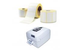 Öntapadós címkék 30x40 mm, 1000 db, thermo, tekercs