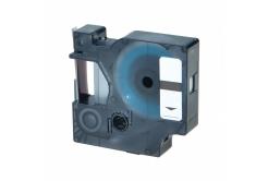 Dymo 40922, 9mm x 7m fekete nyomtatás / ezüst alapon, kompatibilis szalag