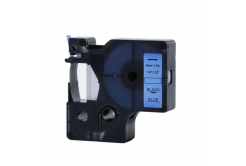 Dymo 43616, 6mm x 7m fekete nyomtatás / kék alapon, kompatibilis szalag