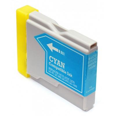 Brother LC-970 / LC-1000C cián (cyan) kompatibilis tintapatron