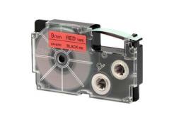 Casio XR-9RD1, 9mm x 8m, fekete nyomtatás / piros alapon, eredeti szalag
