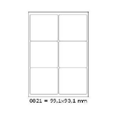 Öntapadós címkék 99,1 x 93,1 mm, 6 db / A4, 100 lap