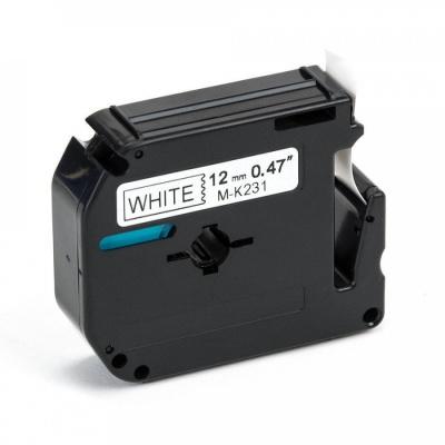 Brother MK-231, 12mm x 8m, fekete nyomtatás / fehér alapon, kompatibilis szalag