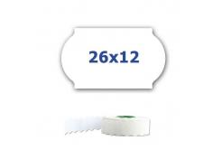 Cenové címkék do kleští, 26mm x 12mm, 900 db, fehér