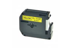 Brother MK-621, 9mm x 8m, fekete nyomtatás / sárga alapon, kompatibilis szalag