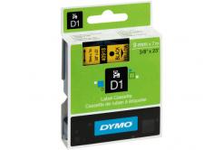 Dymo D1 40918, S0720730, 9 mm x 7 m, fekete nyomtatás / sárga alapon, eredeti szalag