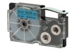 Casio XR-9BU1, 9mm x 8m, fekete nyomtatás / kék alapon, eredeti szalag