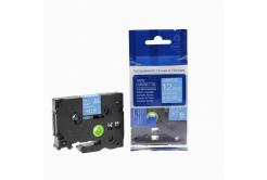 Brother TZ-535 / TZe-535, 12mm x 8m, fehér nyomtatás / kék alapon, kompatibilis szalag