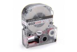 Epson LC-ST6RW, 6mm x 8m, piros nyomtatás / átlátszó alapon, utángyártott szalag
