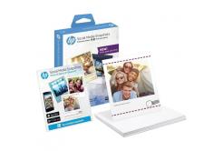 HP W2G60A Social Media Snapshots, fehér fényes fotópapírok, 265 g/m2, 10x13cm, 25 db