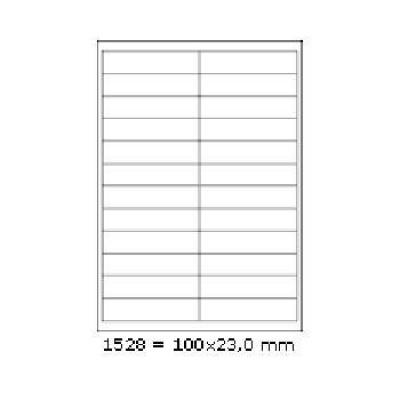 Öntapadós címkék 100 x 23 mm, 24 db / A4, 100 lap