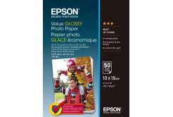 Epson S400038 Value Glossy Photo Paper, fehér fényes fotópapírok, 10x15cm, 183 g/m2, 50 db