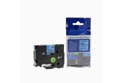 Brother TZ-541 / TZe-541, 18mm x 8m, fekete nyomtatás / kék alapon, kompatibilis szalag
