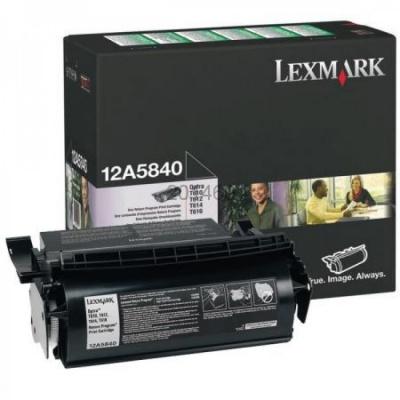 Lexmark 12A5840 fekete (black) eredeti toner