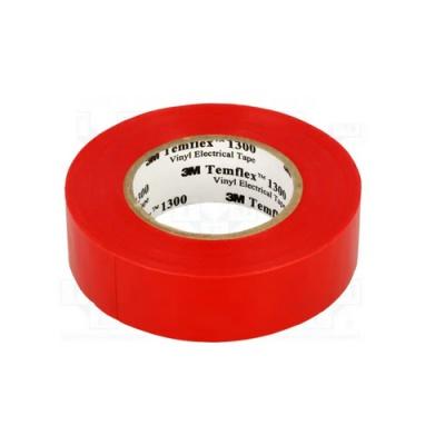 3M Temflex 1300 Elektromos szigetelőszalag, 15 mm x 10 m, piros