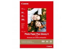 Canon PP-201 Photo Paper Plus Glossy, fotópapírok, fényes, fehér, A4, 260,275 g/m2, 20 db