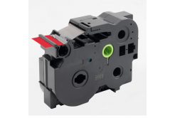 Brother TZ-FX461 / TZe-FX461, 36mm x 8m, flexi, fekete nyomtatás / piros alapon, kompatibilis szalag