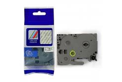 Brother TZ-125 / TZe-125, 9mm x 8m, fehér nyomtatás / átlátszó alapon, kompatibilis szalag