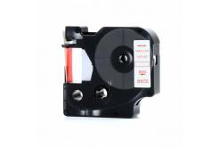 Dymo 45015, S0720550, 12mm x 7m piros nyomtatás / fehér alapon, kompatibilis szalag