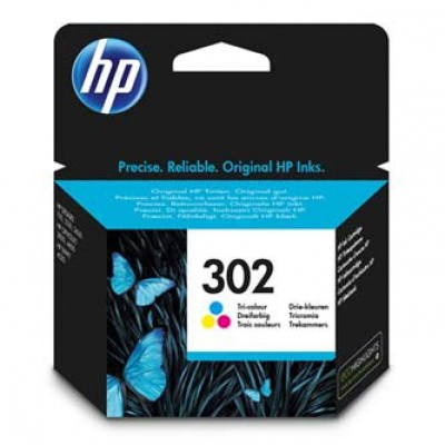 HP 302 F6U65AE színes (color) eredeti tintapatron