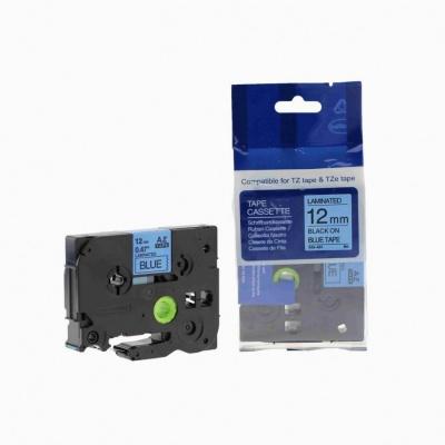 Brother TZ-531 / TZe-531, 12mm x 8m, fekete nyomtatás / kék alapon, kompatibilis szalag