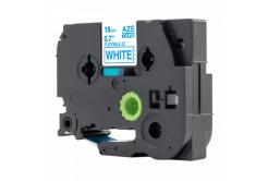 Brother TZ-FX243 / TZe-FX243, 18mm x 8m, flexi, kék nyomtatás / fehér alapon, kompatibilis szalag