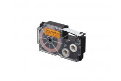 Casio XR-12FOE , 12mm x 8m, fekete nyomtatás /fluoreszkáló narancssárga alapon, utángyártott szalag
