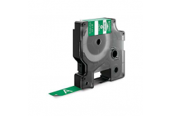 Dymo 1805414, 12mm x 5, 5m fehér nyomtatás / zöld alapon, vinyl, kompatibilis szalag