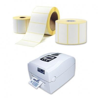 Öntapadós címkék 80x64 mm, 1000 db, thermo, tekercs