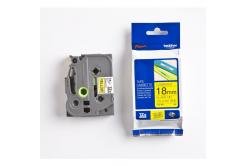 Brother TZ-FX641 / TZe-FX641, 18mm x 8m, fekete nyomtatás / sárga alapon, eredeti szalag