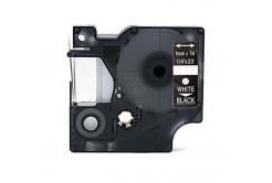 Dymo 43621, 6mm x 7m, fehér nyomtatás / fekete alapon, kompatibilis szalag