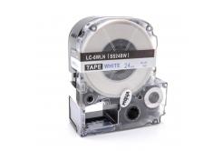 Epson LC-SS24BW, 24mm x 8m, kék nyomtatás / fehér alapon, kompatibilis szalag