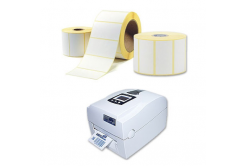 Öntapadós címkék 20x10 mm, 2000 db, thermo, tekercs